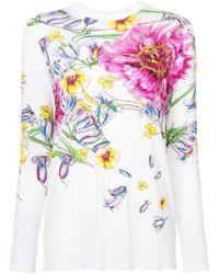 Prabal Gurung - Floral Print Long Sleeve T-shirt - Lyst