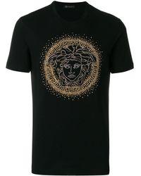 Versace 'Medusa' T-Shirt - Schwarz