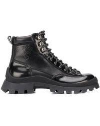 DSquared² Ботинки Хайкеры С Тисненым Логотипом - Черный