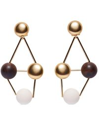 Carolina Herrera Dot Drop Earrings - Metallic