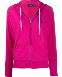Polo Ralph Lauren Embroidered logo zip-up hoodie - Pink