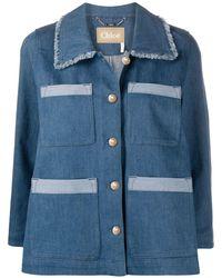 Chloé Denim Shirt Jacket - Blue