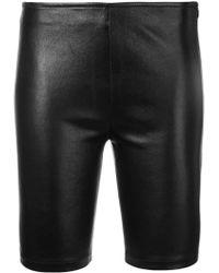 Manokhi Pantalones cortos ajustados estilo biker - Negro