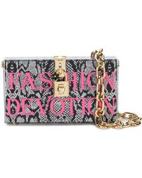 Dolce & Gabbana Fashion Devotion ボックス クラッチバッグ - ブラック