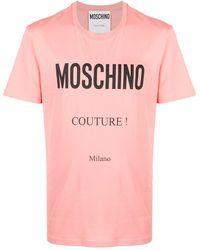 Moschino - Футболка С Круглым Вырезом И Логотипом - Lyst