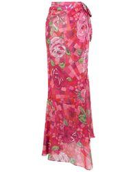Amir Slama   Floral Print Skirt   Lyst