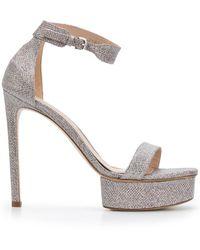 Stuart Weitzman Platform High Sandals - Grey