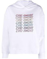 Giada Benincasa スローガン パーカー - ホワイト