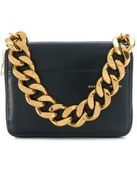 Kara Large Chain Wallet - Black