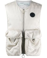 Off-White c/o Virgil Abloh Logo-print Multi-pocket Vest - Multicolor
