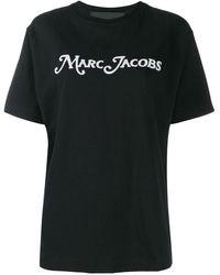 Marc Jacobs Футболка С Вышитым Логотипом - Черный
