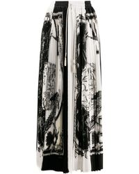 Ferragamo Soleil Pleated Maxi Skirt - White