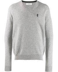 Pringle of Scotland Embroidered Logo Sweater - Grey