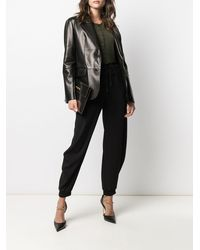 Tom Ford レザー シングルジャケット - ブラック