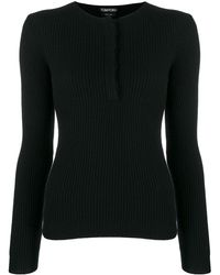 Tom Ford Ribbed Knit Sweater - Black