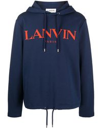 Lanvin ロゴ パーカー - ブルー