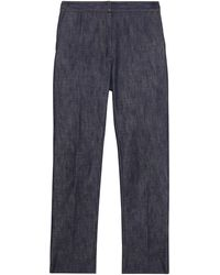 Burberry Japanse Straight Jeans - Blauw