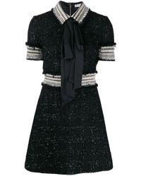 Ralph & Russo Short-sleeve Mini Dress - Black