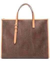 Etro Paisley Print Shopper Tote - Brown