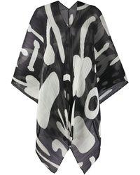 Pleats Please Issey Miyake Fular plisado con estampado abstracto - Multicolor