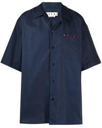 Marni Рубашка С Логотипом - Синий