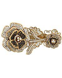 Dolce & Gabbana Broche Met Roos - Metallic