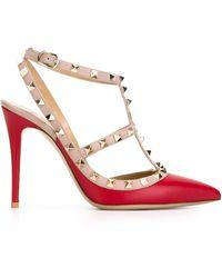 Valentino Garavani 'rockstud' Court Shoes - Red