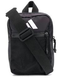 adidas ロゴ メッセンジャーバッグ - ブラック