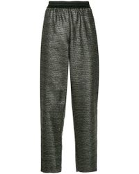 ‎LAYEUR‎ - Metallic Tapered Trousers - Lyst