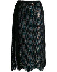 Marco De Vincenzo スパンコール スカート - ブラック