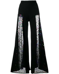 STAUD - Sheer Wide-leg Trousers - Lyst