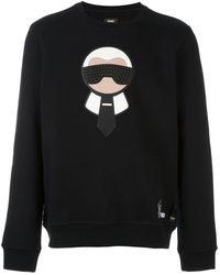 Fendi Karlito スウェットシャツ - ブラック
