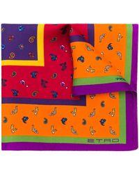 Etro Foulard con stampa animalier - Multicolore