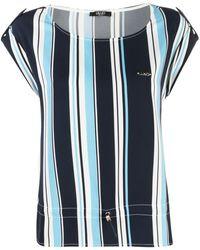 Liu Jo ドローストリングヘム Tシャツ - ブルー