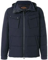 Tod's Hooded Padded Coat - Blue