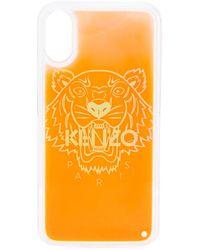 KENZO Iphone X/xs Hoesje Met Tijgerprint - Oranje