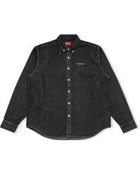 Supreme ロゴ デニムシャツ - ブラック