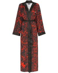 Charm's X Kappa Lava-print Boxing Robe - Red
