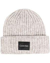 Calvin Klein - ロゴパッチ ビーニー - Lyst