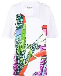 Maison Margiela アブストラクトプリント Tシャツ - ホワイト