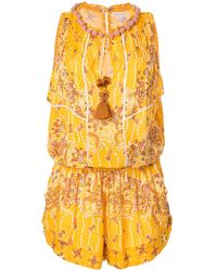 Poupette Bonnie Ruffled Playsuit - Yellow