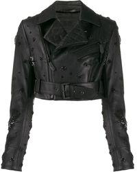 Philipp Plein Укороченная Куртка С Заклепками - Черный