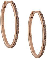 Eva Fehren 18kt Rose Gold Diamond Hoop Earrings - Metallic