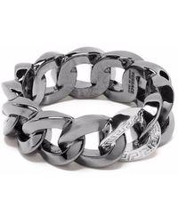Versace Цепочное Кольцо - Металлик