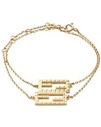 Fendi Ff Friendship Bracelets - Metallic