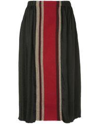 Uma Wang - Striped Skirt - Lyst