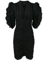 Isabel Marant - Ruched Half Sleeve Mini Dress - Lyst