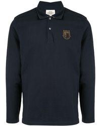 Kent & Curwen ロングスリーブ ポロシャツ - ブルー