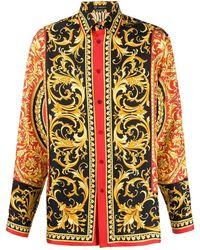 Versace Overhemd Met Print - Rood