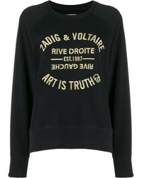 Zadig & Voltaire Felpa Art Is Truth con ricamo - Nero
